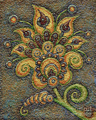 Painting - Textured Tapestry 8 by Amy E Fraser