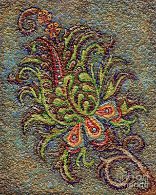 Painting - Textured Tapestry 9 by Amy E Fraser
