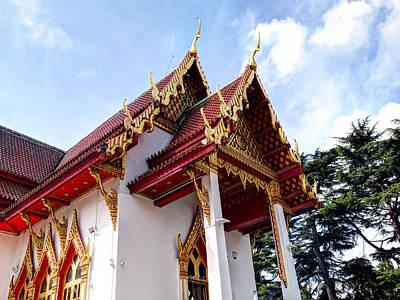 Photograph - Thai Temple  by Gill Billington
