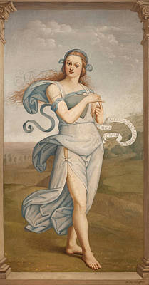 Painting - Thalia, Muse Of Comedy by Egide Godfried Guffens