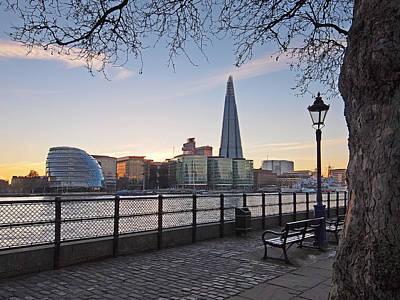 Photograph - Thames Embankment And Shard London by Gill Billington
