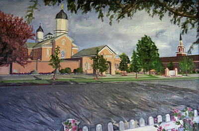 Painting - Thank Thee For The Church And The Temple  Vernal Utah Temple by Nila Jane Autry