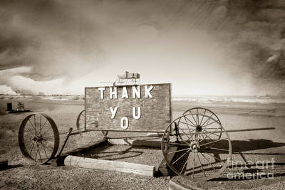 Photograph -  Thank You Wagon by Imagery by Charly
