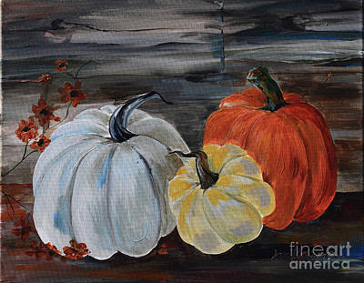 Painting - Thankful For Harvest - Pumpkins by Jan Dappen