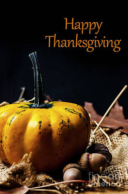 Thanksgiving Dinner Invitation Card. Art Print