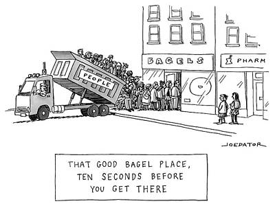 Drawing - That Good Bagel Place by Joe Dator