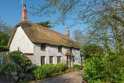 Photograph - Thatched Cottage, Church Cove, Cornwall by David Ross
