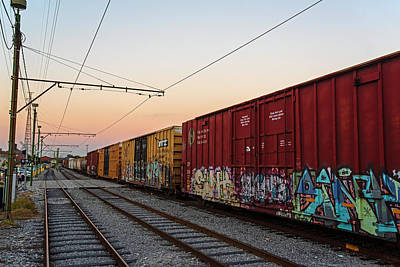 Photograph - That's A Long Train New Orleans La Louisiana Train by Toby McGuire