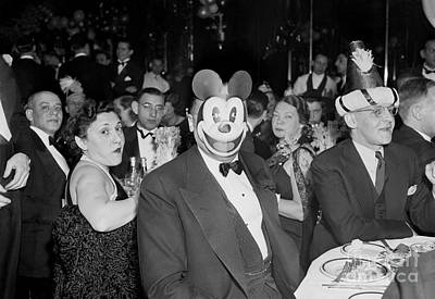 Photograph - Thats J. Edgar Hoover Behind The Mickey by New York Daily News Archive