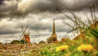 Photograph - Thaxted Windmill And Church by Chris Cousins