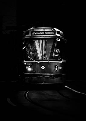 Photograph - The 505 Dundas Streetcar Toronto Canada by Brian Carson