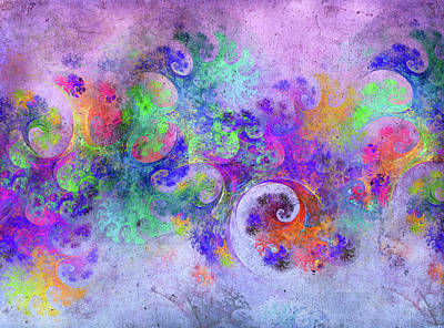 Digital Art Rights Managed Images - The Abstract Beach Fractal Royalty-Free Image by Betsy Knapp