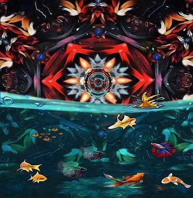 Animals Digital Art - The Abstract Fish Tomb by Swedish Attitude Design