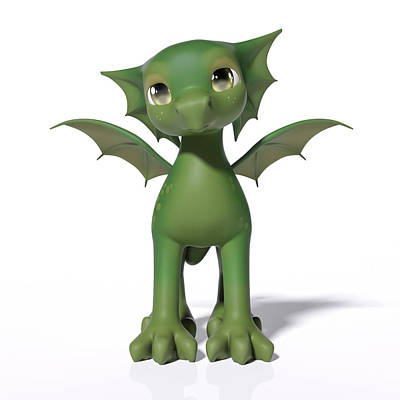 Fantasy Royalty-Free and Rights-Managed Images - The Adorable Dragon  by Betsy Knapp