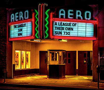 Photograph - The Aero Theater - A League Of Their Own by Gene Parks