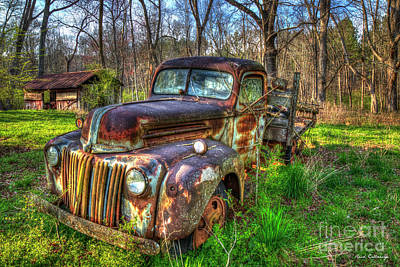 Photograph - The After Glow 1947 Ford Stakebed Pickup Truck Art by Reid Callaway