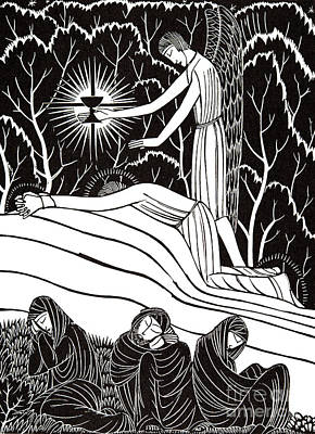 Drawing - The Agony In The Garden, 1926 by Eric Gill