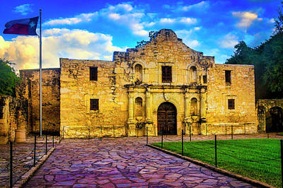 Old Fort Photograph - The Alamo Fortress by Garry Gay