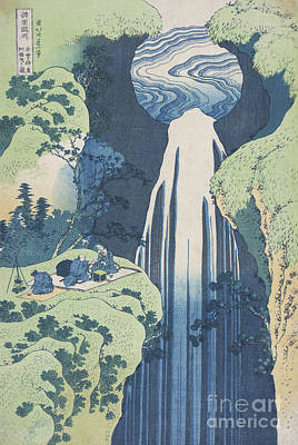 Painting - The Amida Falls  by Hokusai