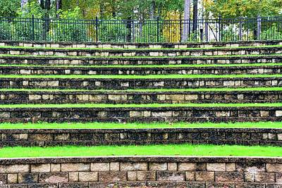 Photograph - The Amphitheater Steps At Irmo Sc Community Park 2 by Lisa Wooten