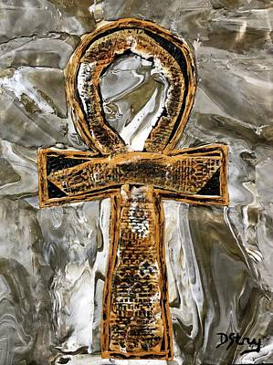 Mixed Media - The Ankh by Deborah Stanley
