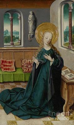 Painting - The Annunciation, 1490 by German School