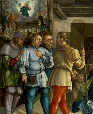Painting - The Annunciation And The Adoration Of The Shepherds by Melchior Feselen