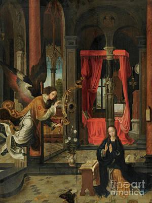 Painting - The Annunciation By Jan De Beer by Jan de Beer