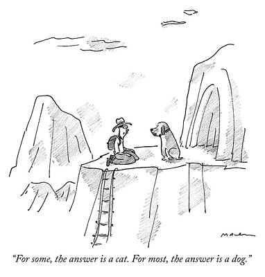 Drawing - The Answer Is A Dog by Michael Maslin