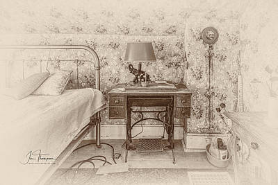 Photograph - The Antique Sewing Machine by Jim Thompson