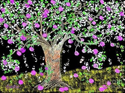 Digital Art - The Apple Tree by Caroline Street