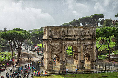 Photograph - The Arch Of Constantine Rome by Wayne Moran