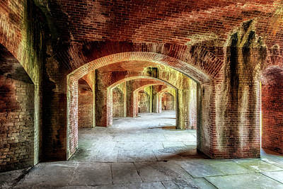 Photograph - The Arches Of Fort Massachusetts by Susan Rissi Tregoning