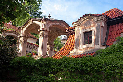 Photograph - The Architecture Details In Baroque Kolowrat Garden 1 by Jenny Rainbow