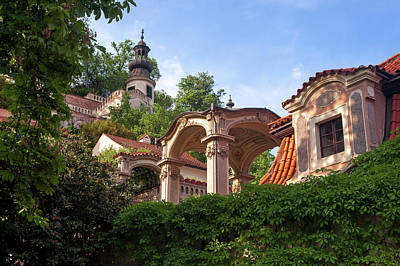 Photograph - The Architecture Details In Baroque Kolowrat Garden by Jenny Rainbow
