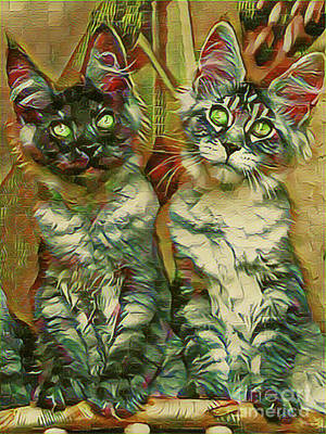 Digital Art - The Aristocats by Kathy Kelly