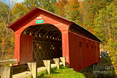 Photograph - The Arlington Green Covered Bridge by Adam Jewell