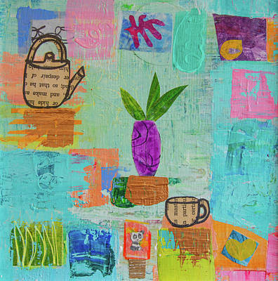 Mixed Media - The Art Of Tea Two by Paper Jewels By Julia Malakoff