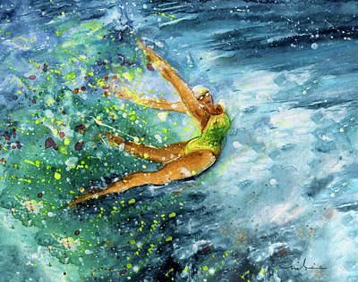 Sports Paintings - The Art Of Water Dancing 01 by Miki De Goodaboom