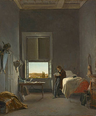 Painting - The Artist In His Room At The Villa Medici, Rome  by Leon Cogniet