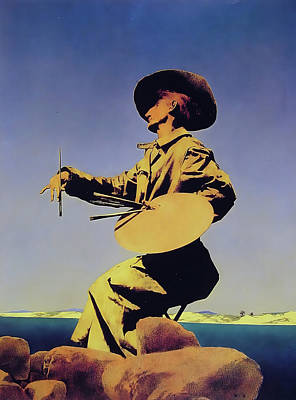 Photograph - The Artist by Maxfield Parrish