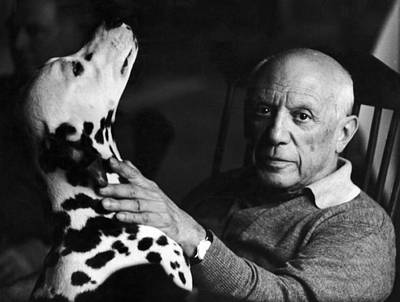 Cubism Wall Art - Photograph - The Artist Pablo Picasso 1881-1973 With by Marianne Greenwood