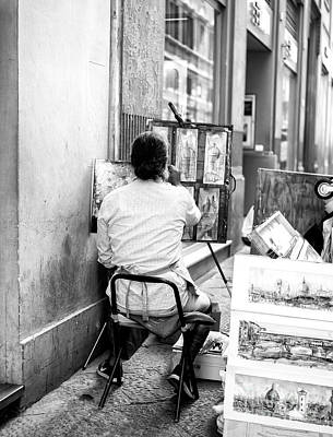 Photograph - The Artists Draws In Florence by John Rizzuto