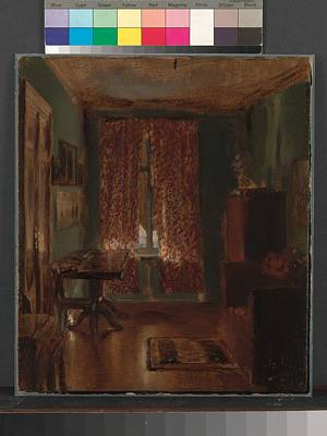 Mountain Landscape Rights Managed Images - The Artists Sitting Room in Ritterstrasse 1851 Royalty-Free Image by Adolph Menzel