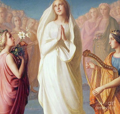 Painting - The Assumption Of The Virgin, 1844 by Louis Janmot
