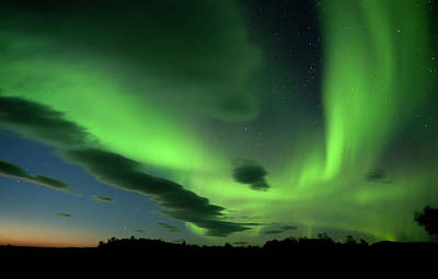 Photograph - The Aurora Borealis Paints The  Night by Subtik