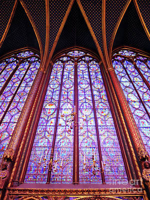 The Awe Of Sainte Chappelle Art Print