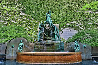 Photograph - The B. F. Ferguson Fountain Of The Great Lakes by Allen Beatty