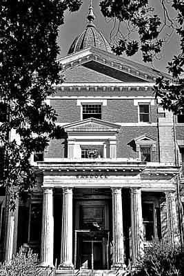 Photograph - The Babcock Building Columbia South Carolina Black And White by Lisa Wooten