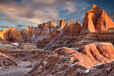 Photograph - The Badlands At Sunrise by Jim Thompson